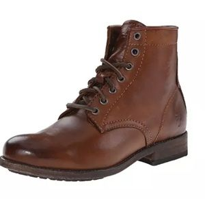 New FRYE Tyler Lace Up Combat  Women Boots $313